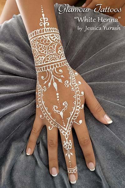 White Mehndi Designs 2