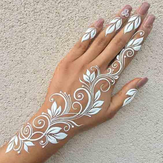 White Mehndi Designs 3