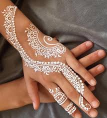 White Mehndi Designs 5