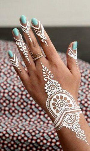 White Mehndi Designs 7