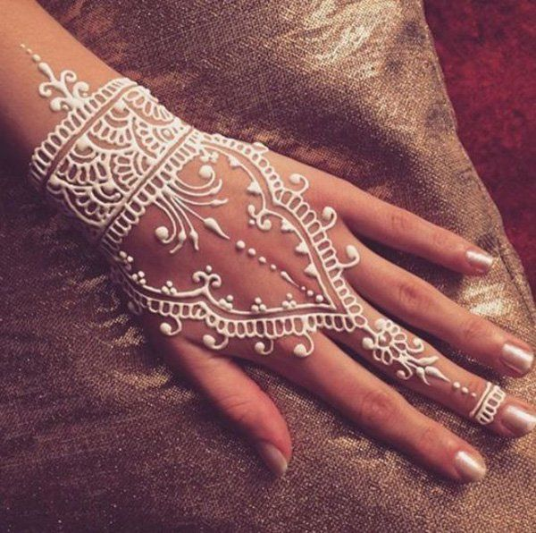 White Mehndi Designs 8