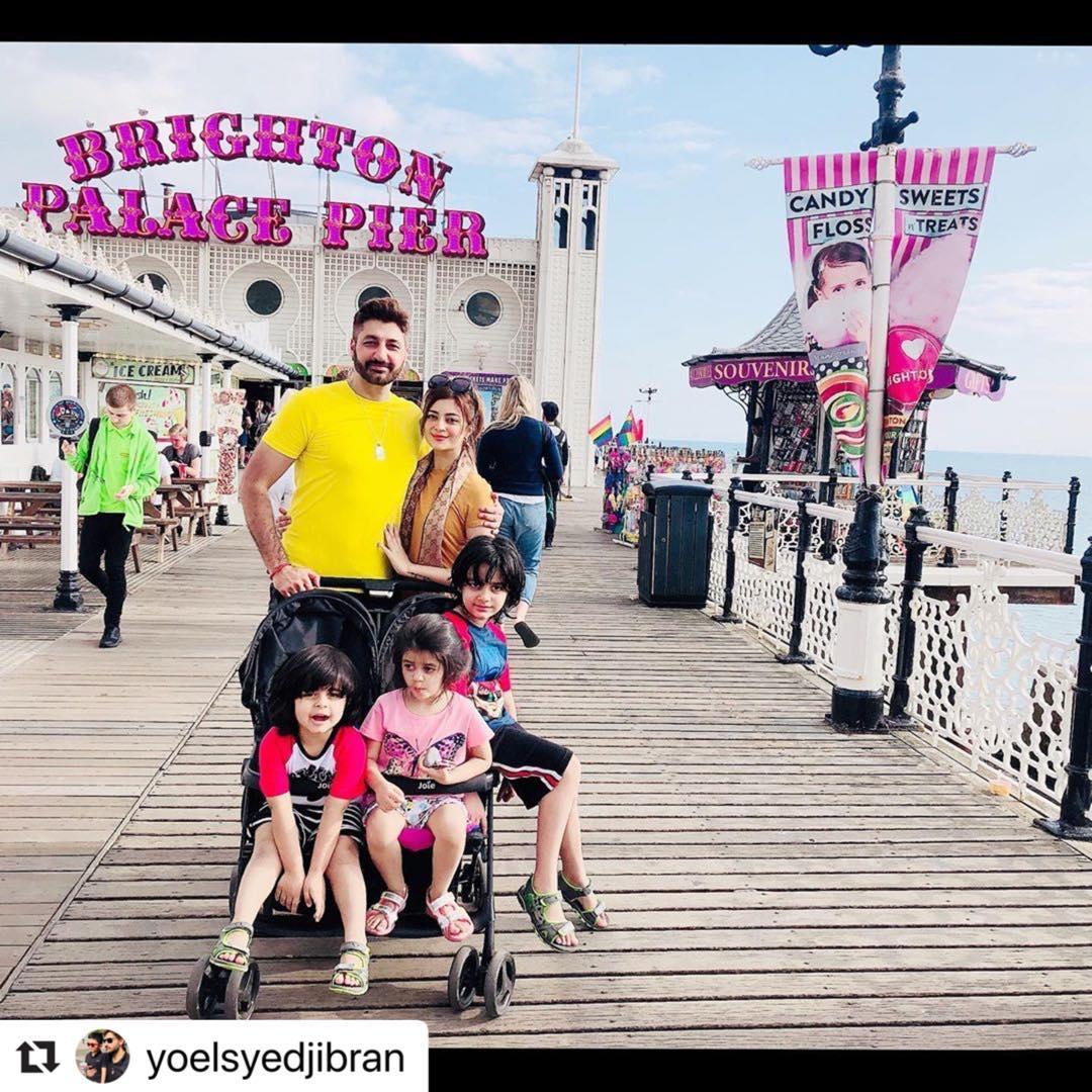 Syed Jibran with Wife Afifa Jibran Enjoying with Kids
