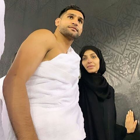 Boxer Amir Khan Performed Umrah with his Wife Faryal Makhdoom