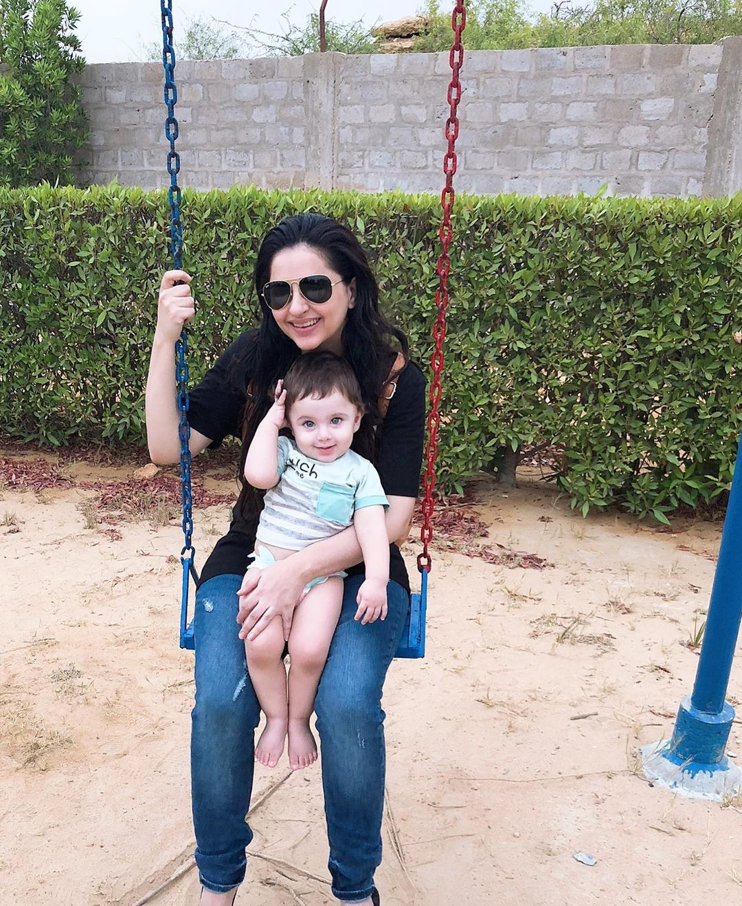 Beautiful Couple Fatima Effendi and Kanwar Arsalan Enjoying with Kids at a Farm House