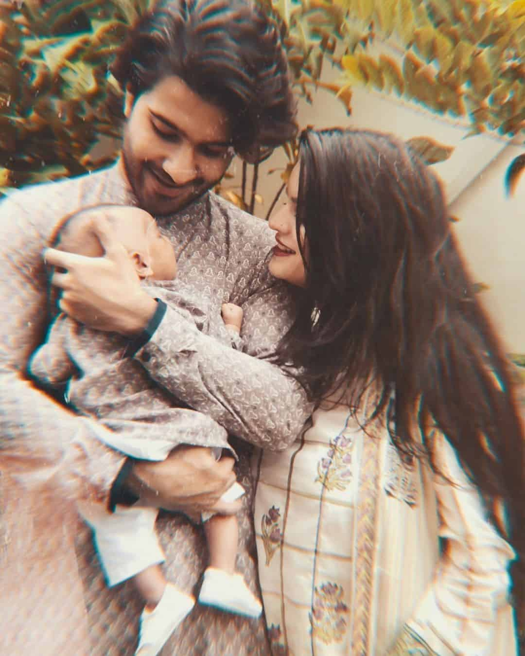 Beautiful Clicks of Feroze Khan with his Wife and Son