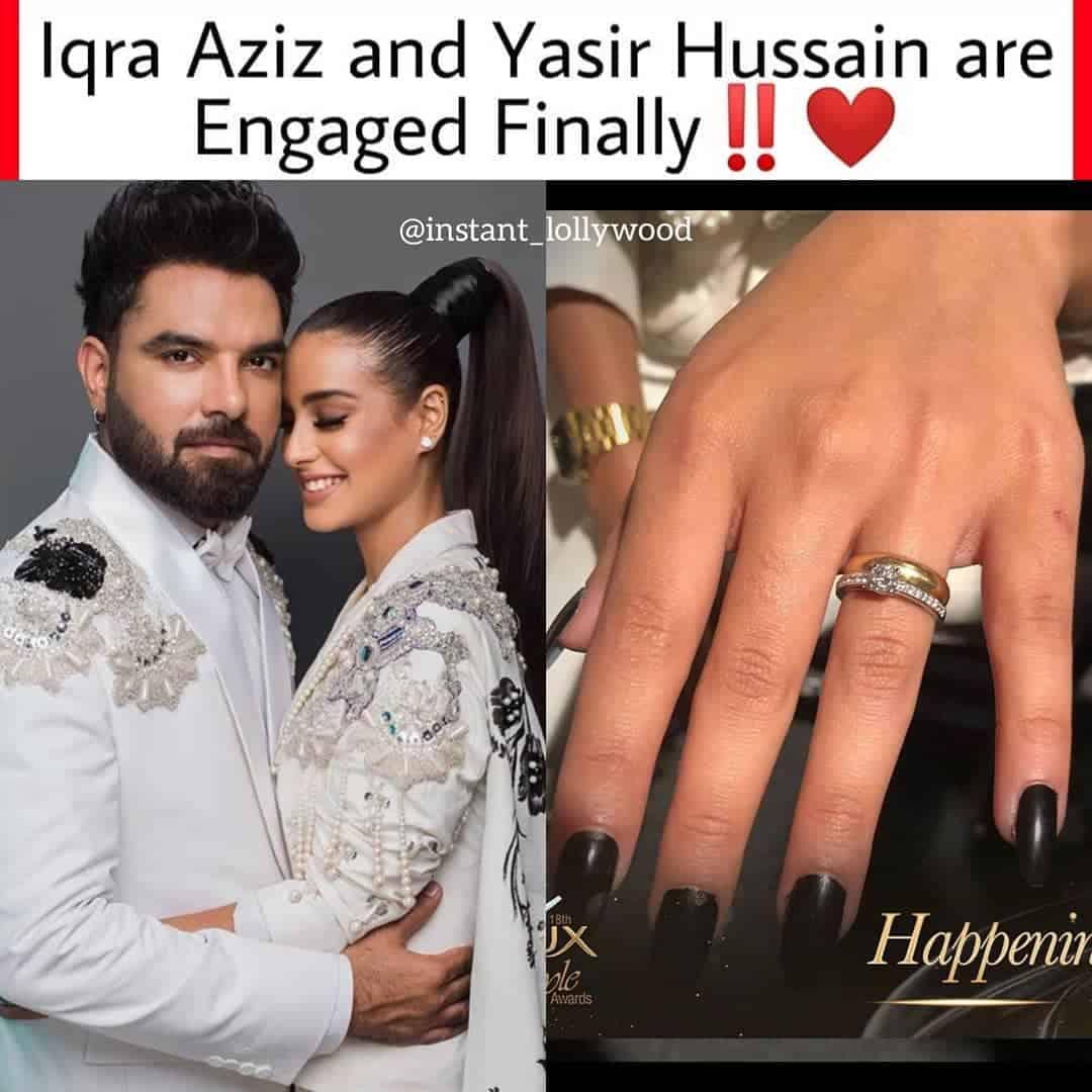 Iqra aziz and yasir hussain engaged 3