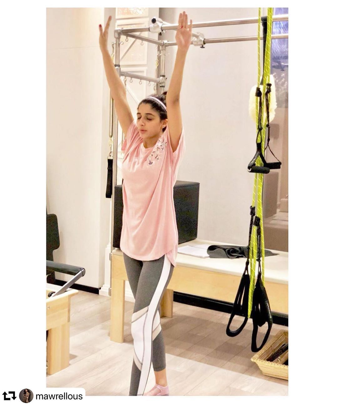 Pictures of Actress Mawra Hocane Workout in Gym