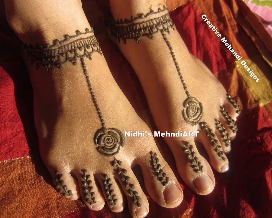 minimalistic Mehndi Design 10