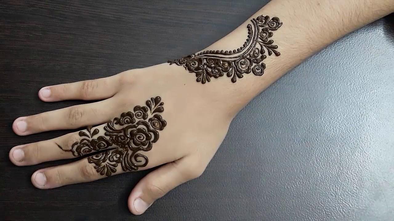 minimalistic Mehndi Design 3