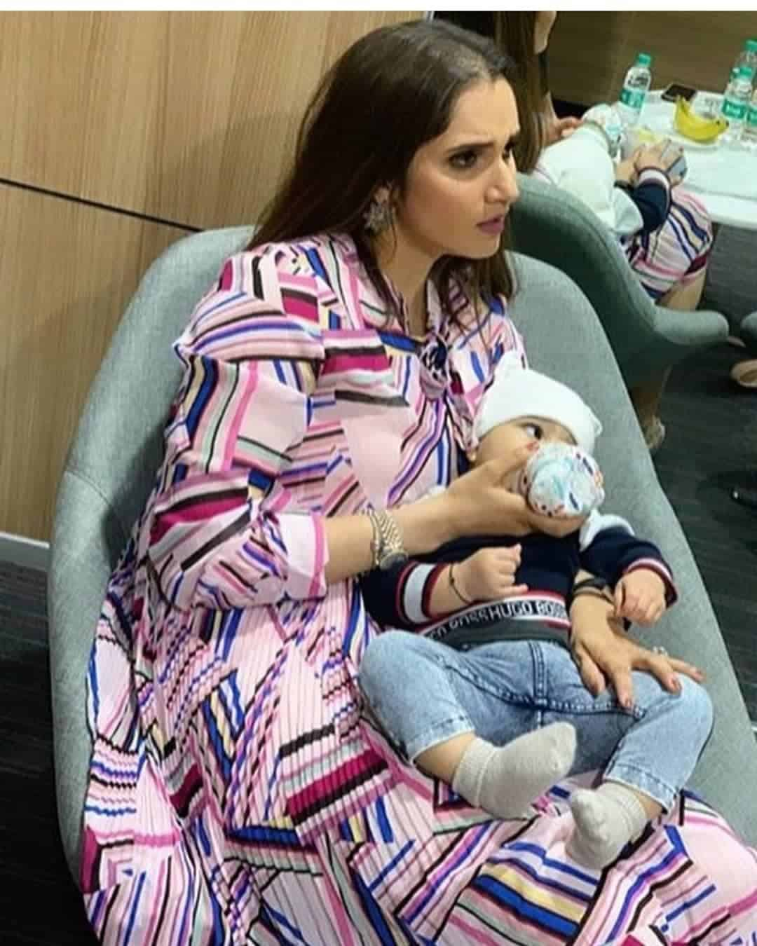 Beautiful Clicks of Sania Mirza with her Son Izhaan Mirza Malik