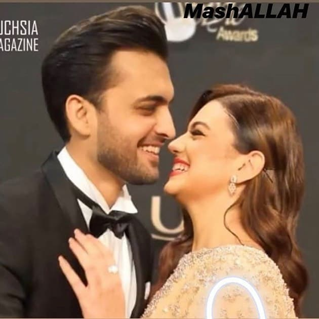 Zara Noor Abbas and Asad Siddique at Lux Style Awards 2019