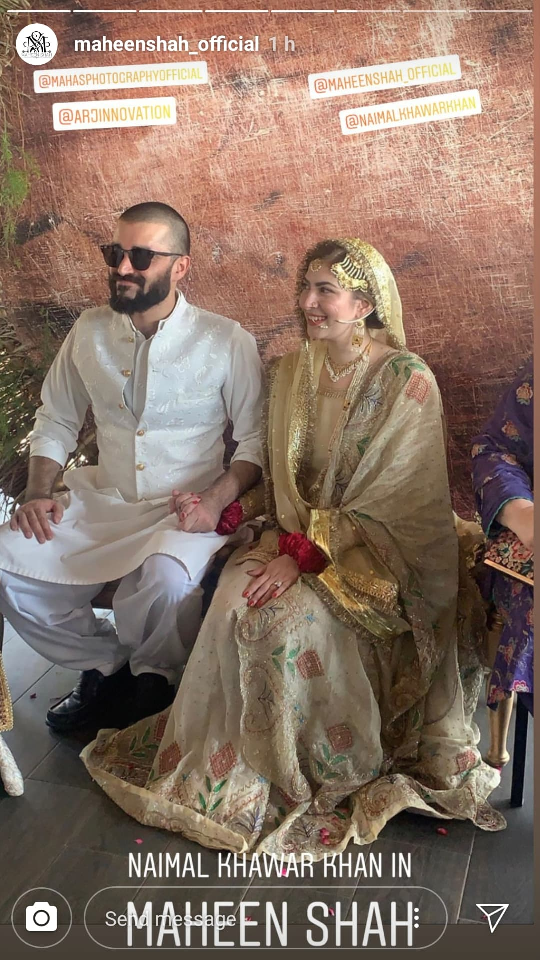 Naimal Khawar Wears Maheen Shah on Her Nikkah   Reviewit pk