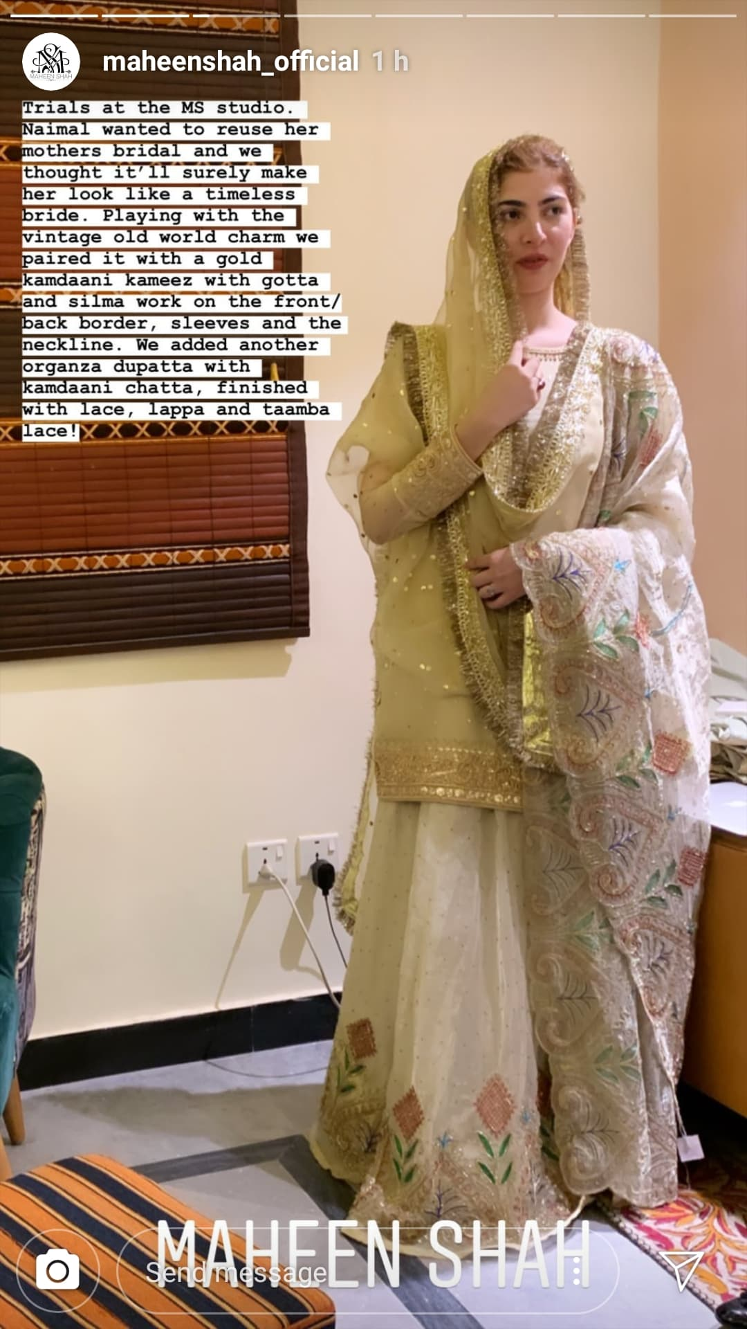 Naimal Khawar Wears Maheen Shah on Her Nikkah | Reviewit pk