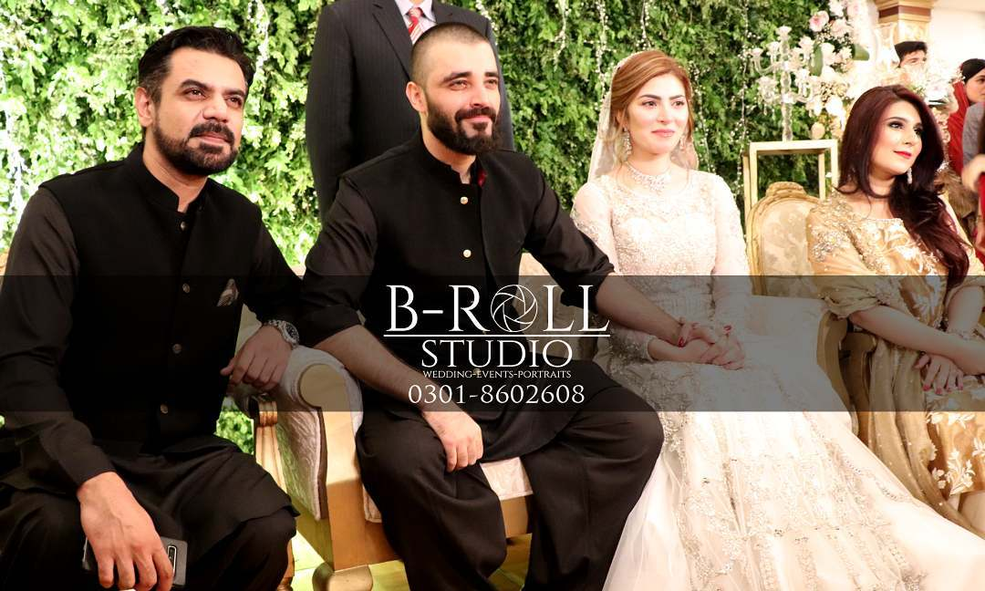 Hamza Ali Abbasi and Naimal Khawar Reception Pictures in HD