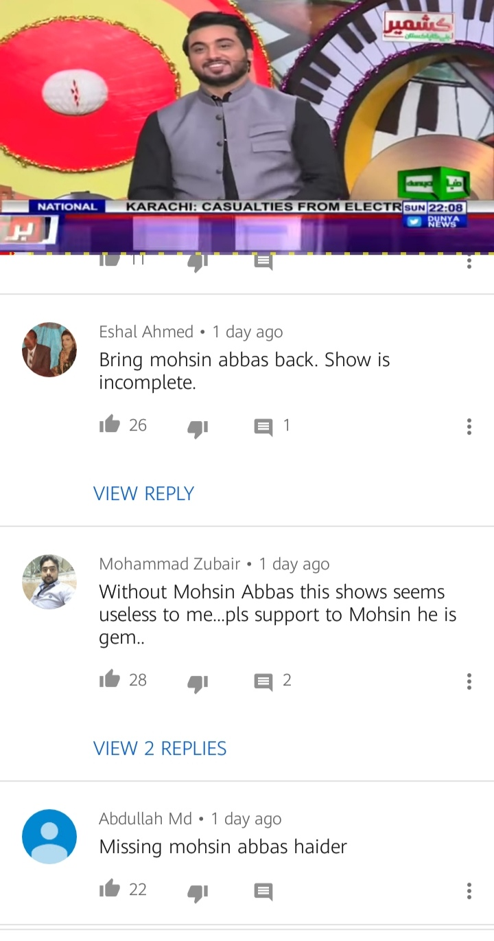 People Aren't Liking Mazaaqraat Without Mohsin Abbas Haider
