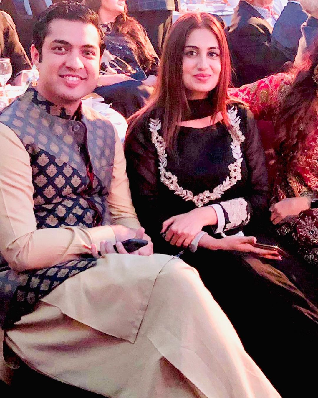 Anchor Iqrar ul Hassan with his Wife Farah Iqrar in London
