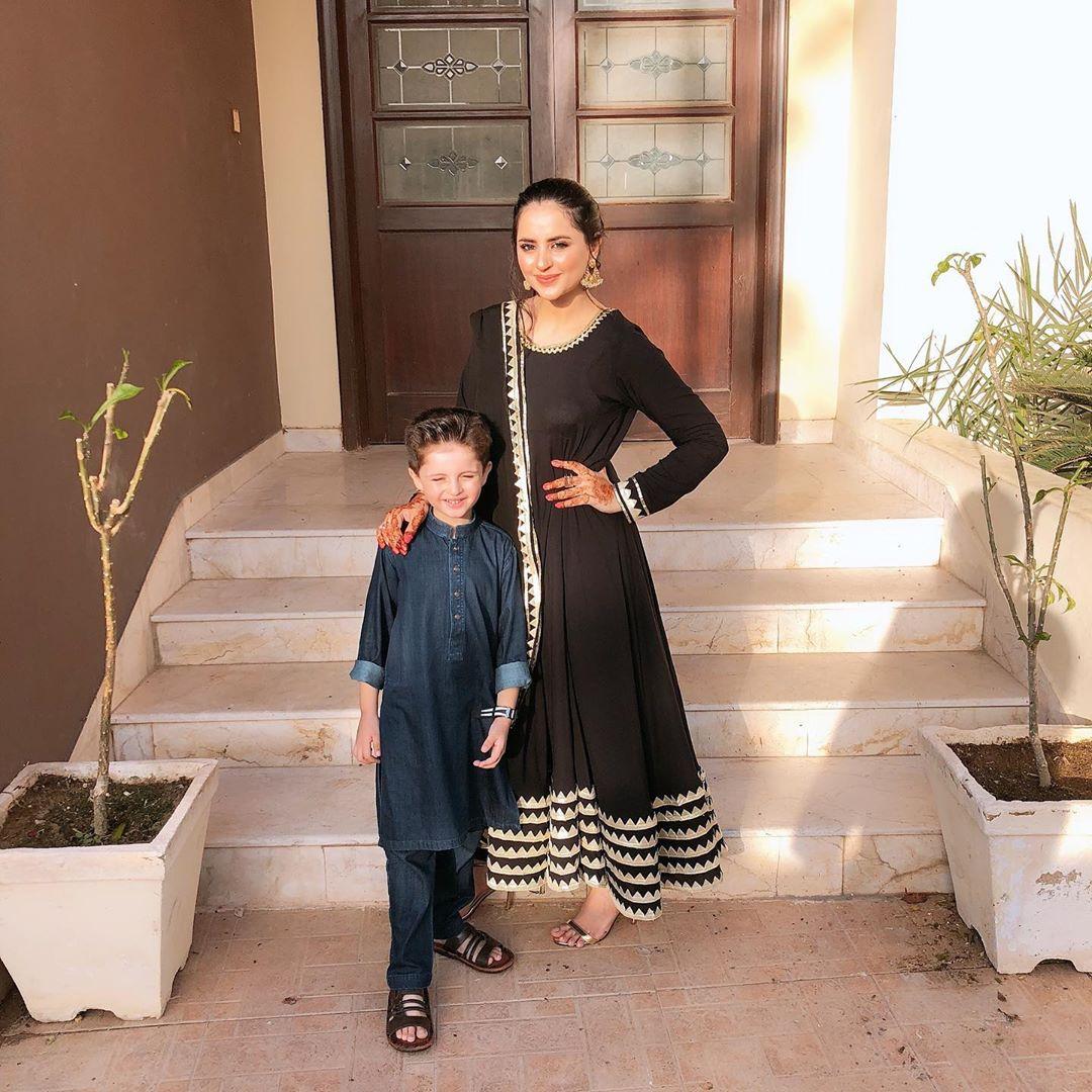 Beautiful Couple Fatima Effendi and Kanwar Arsalan Celebrating Eid Day 1 with Kids