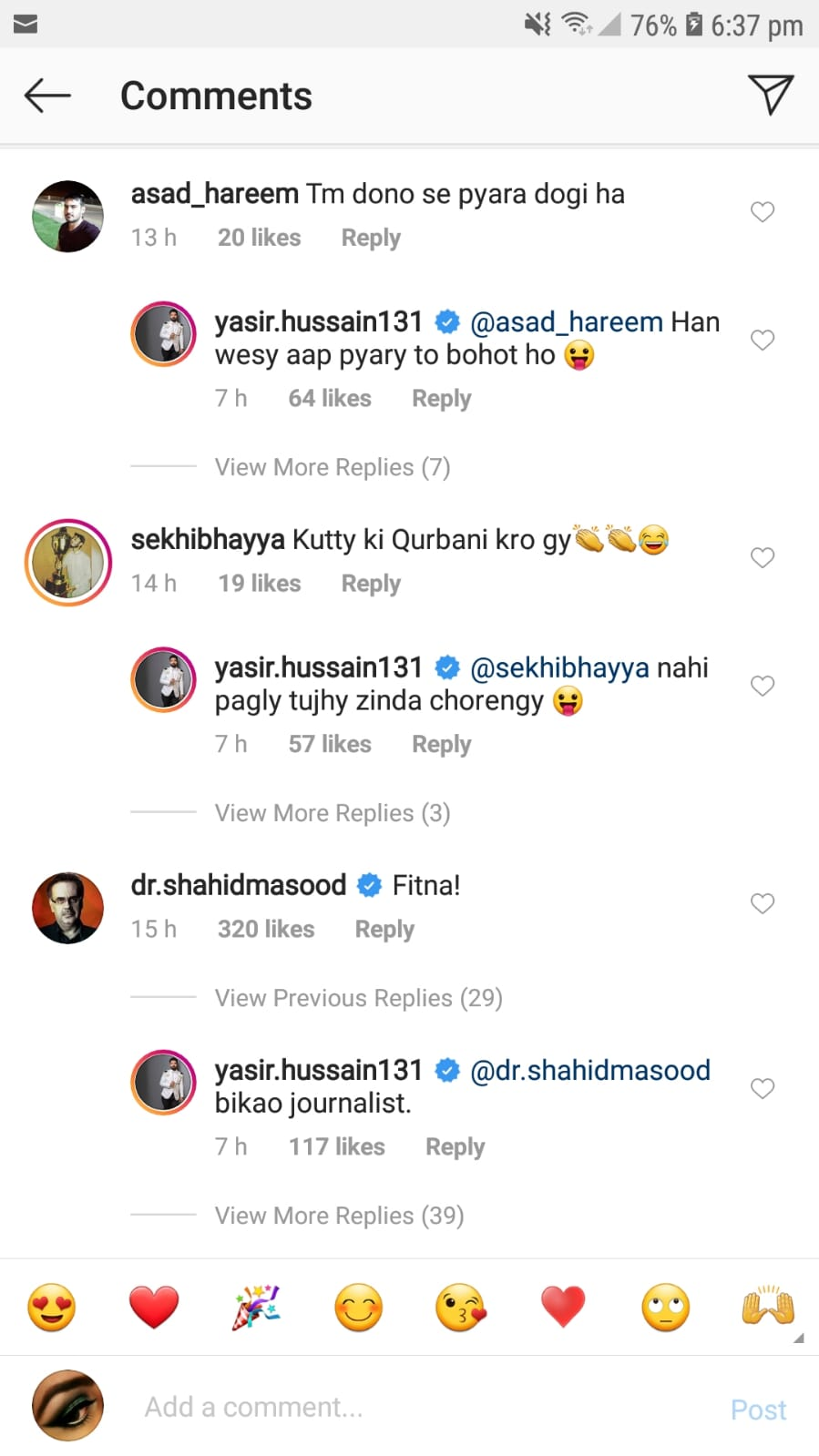 Shahid Masood Made A Problematic Comment On Yasir Hussain's Eid Picture