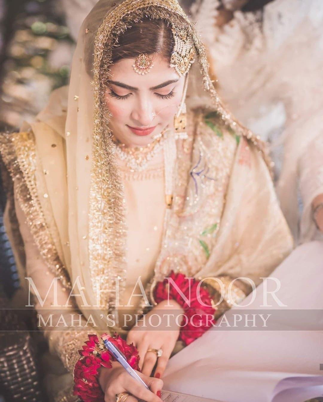 Pakistani Celebrity Brides That Went For Simple Bridal Makeup