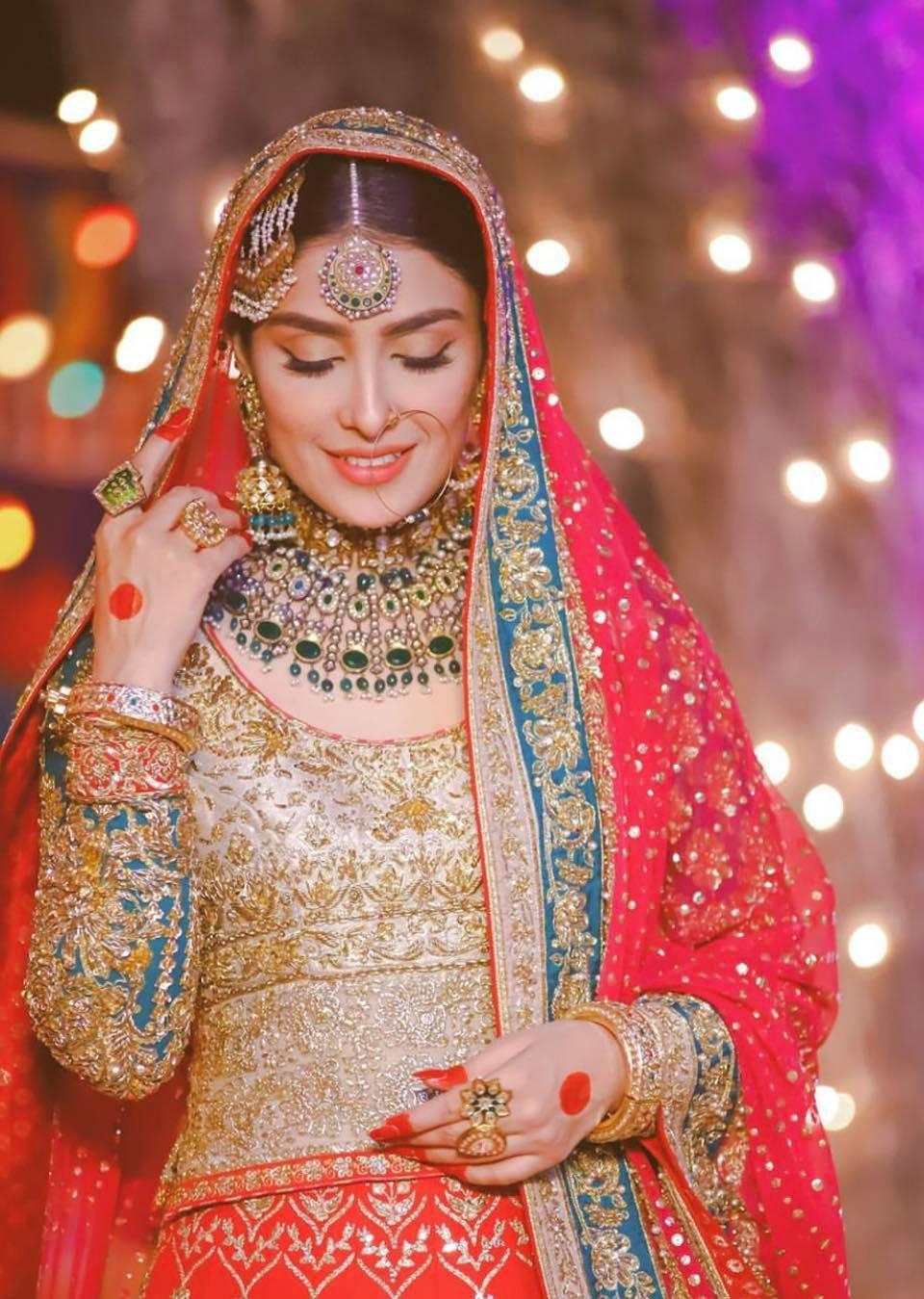 Pakistani Actresses Wearing Best Bridal Dresses