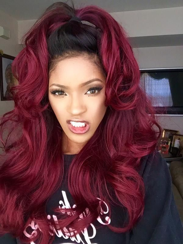 Dark Burgundy Hair Color Styles 4