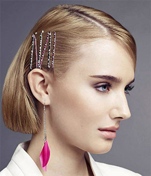 hair style with bobby pins
