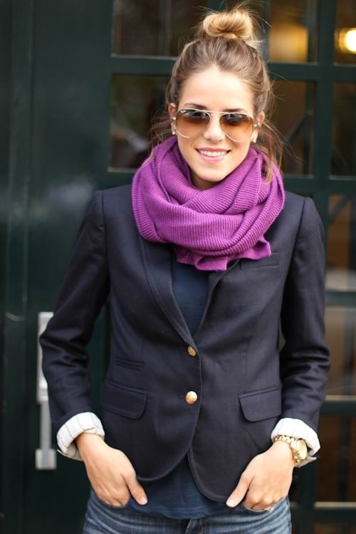 latest scarf folding around neck