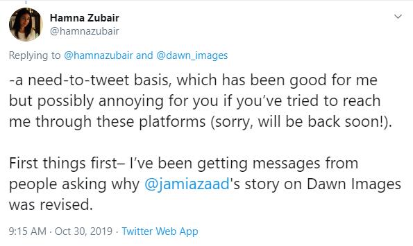Ex-editor Dawn addresses issues of Jami's rape story