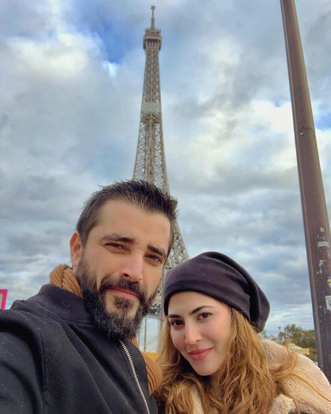 Latest Clicks of Hamza Ali Abbasi & Naimal Khawar From Paris