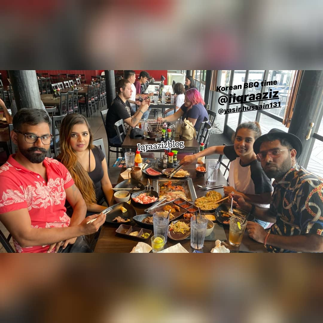 Latest Clicks of Couple Actors Iqra Aziz and Yasir Hussain in Miami USA