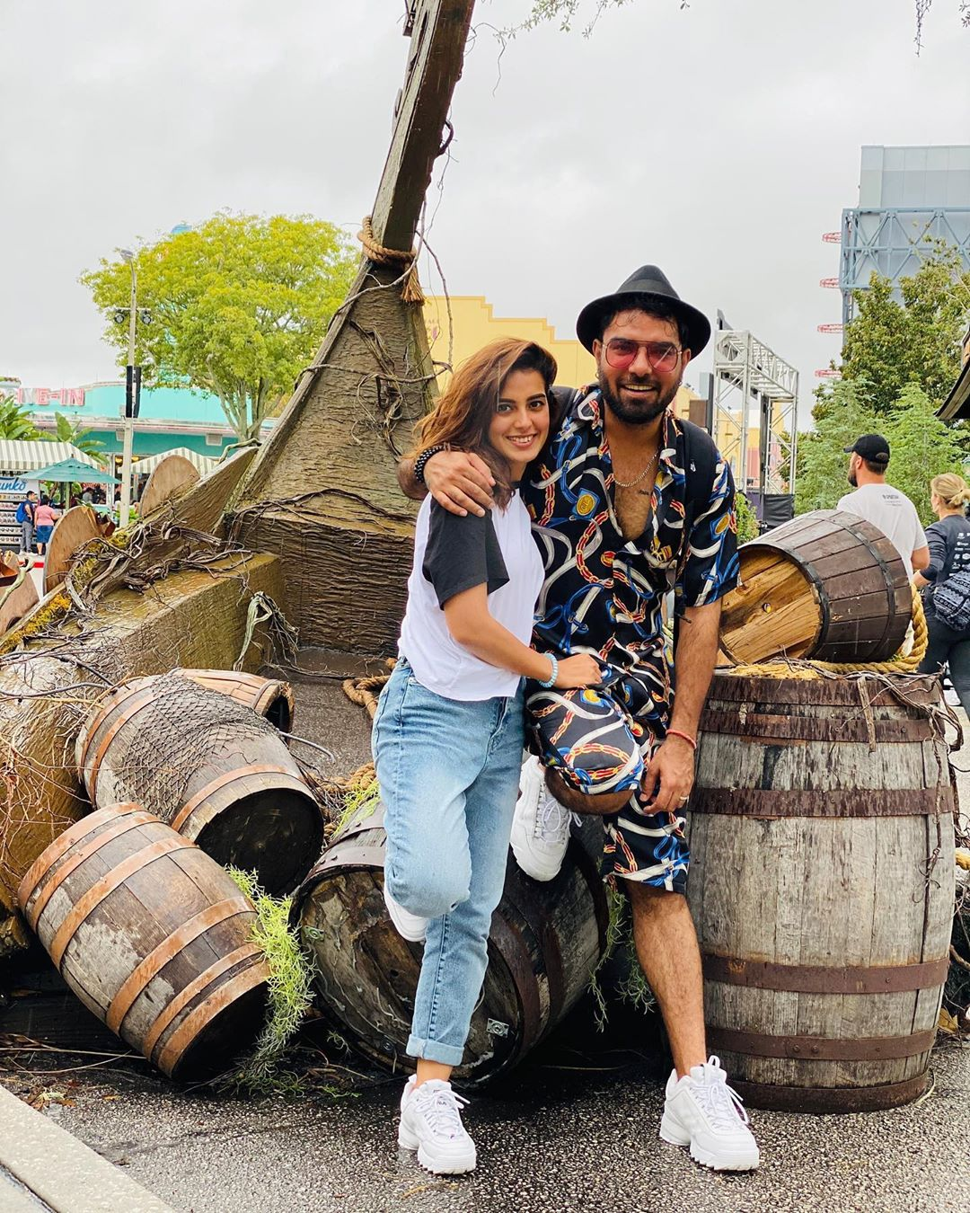 Latest Clicks of Yasir Hussain and Iqra Aziz from USA