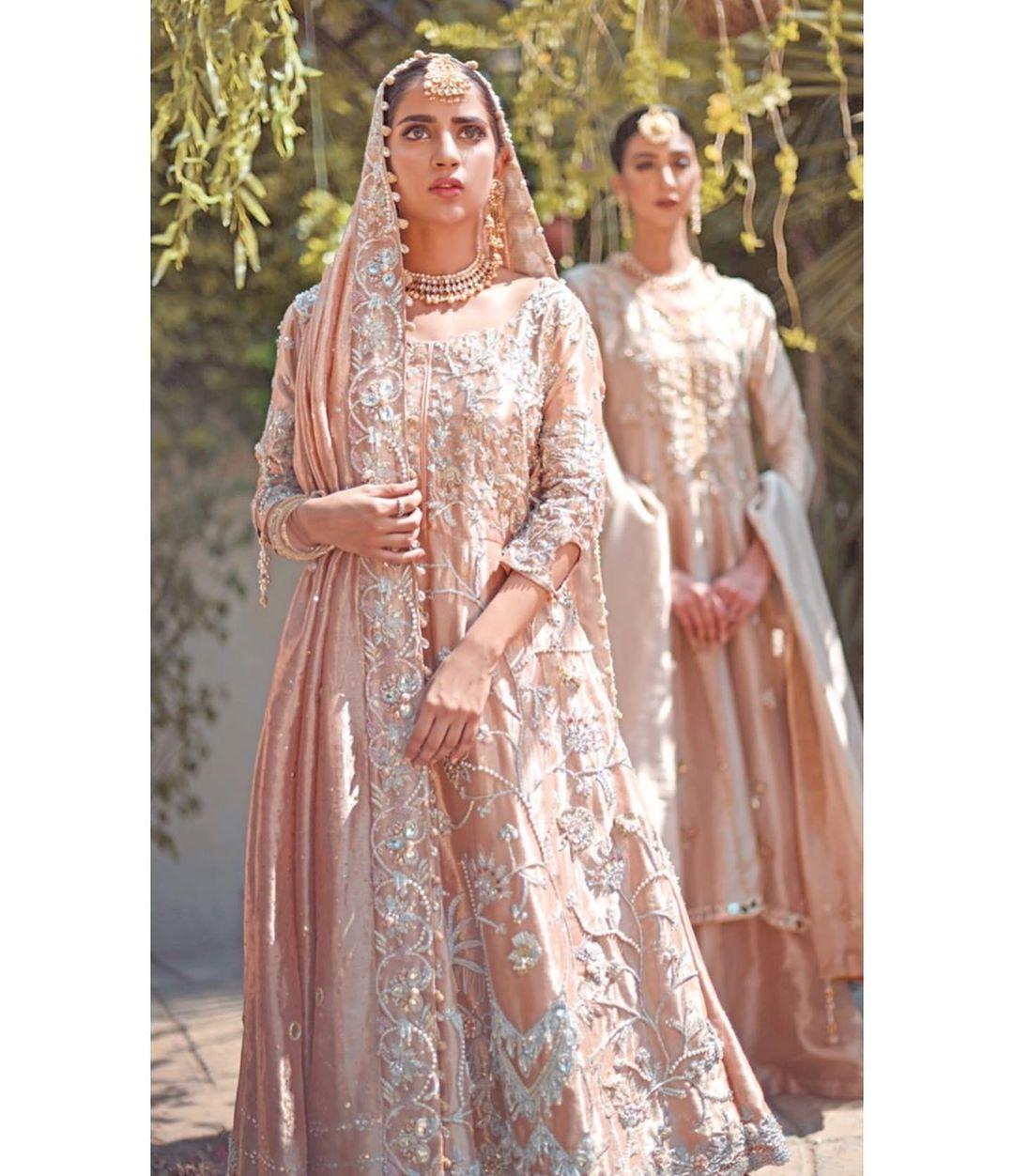 Beautiful Bridal Photo Shoot of Actress Saboor Ali for Amna Arshad