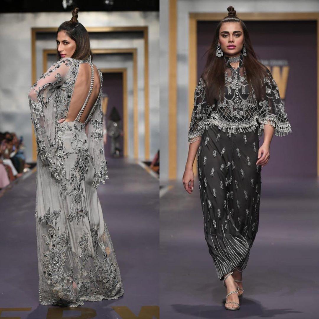 Fashion Model Sadaf Kanwal Walked on Ramp at Fashion Pakistan Week 2019