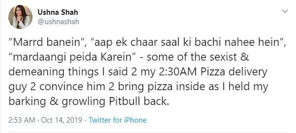 Ushna Shah receives criticism for calling out a pizza delivery guy's masculinity