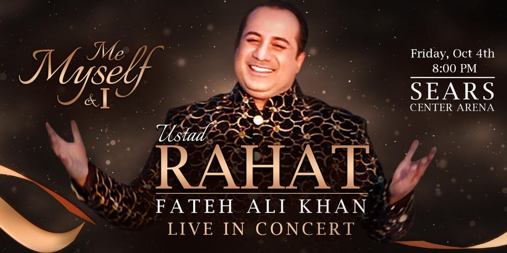 Rahat Fateh Ali Khan Welcomed Respectfully As He Arrived In Chicago For 'Me, Myself And I' Tour