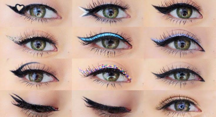 13 different eyeliner looks to try out