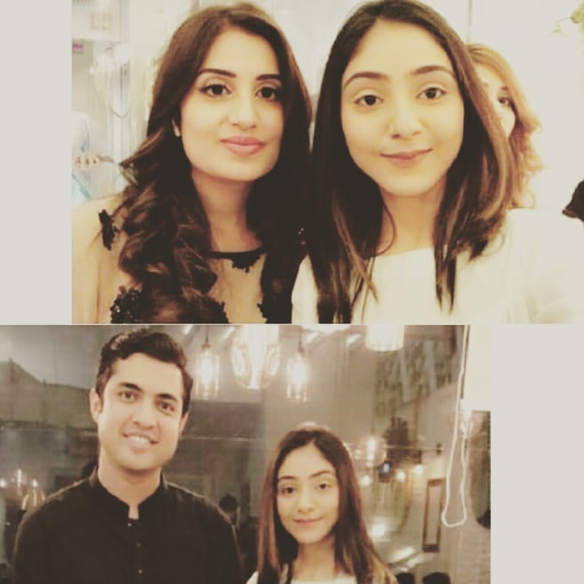Anchor Iqrar ul Hassan with his Wives at the Launch of his New Restaurant