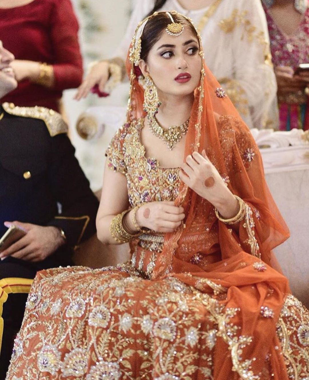 Beautiful Clicks of Sajal Aly on the Set of her Upcoming Drama