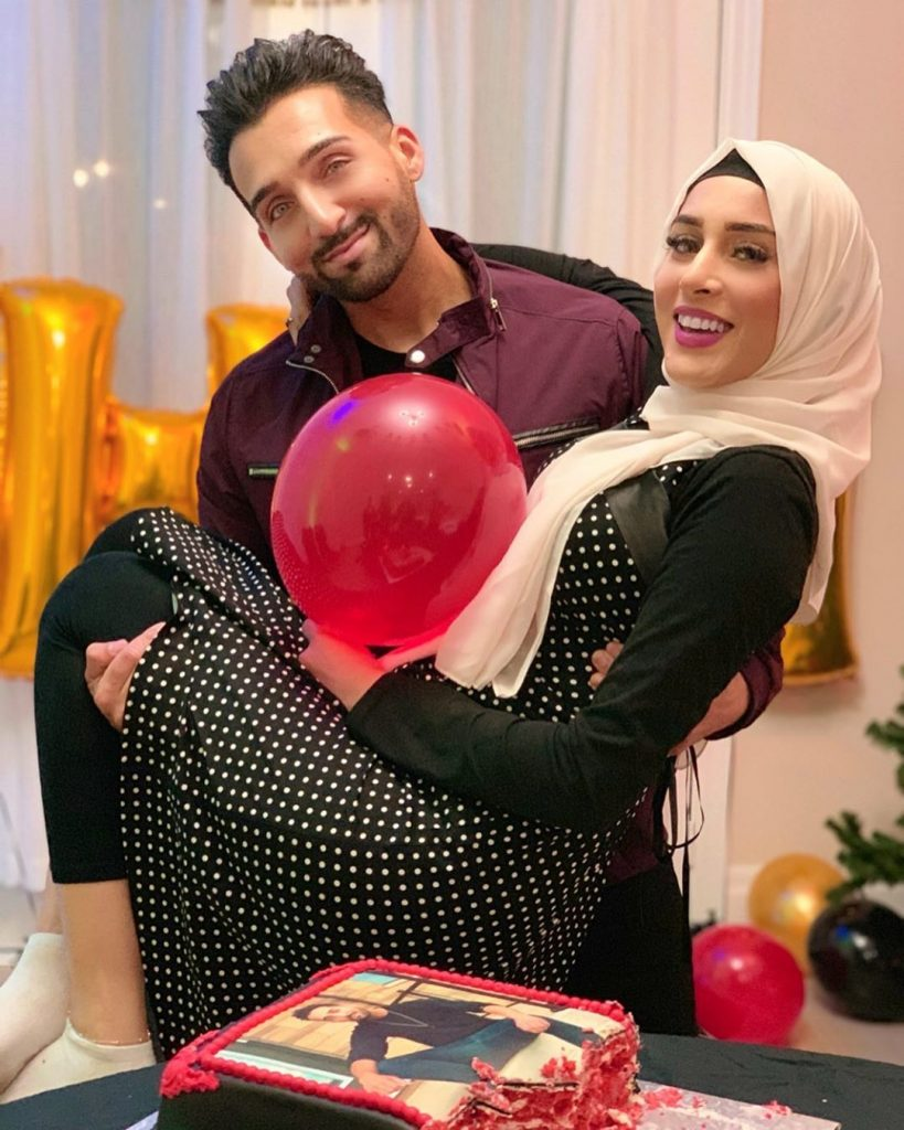 sham idrees and froggy had a baby gender reveal party 12