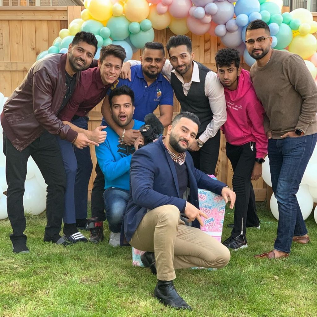 sham idrees and froggy had a baby gender reveal party 2