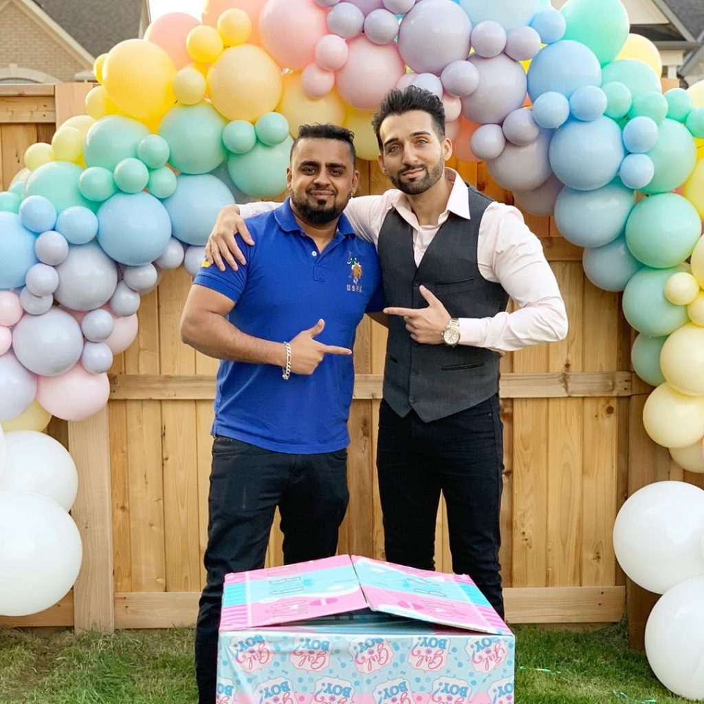 sham idrees and froggy had a baby gender reveal party 3
