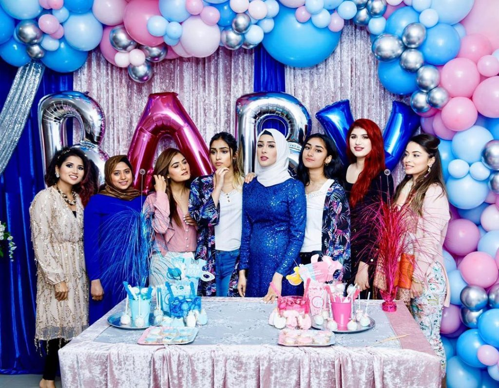 sham idrees and froggy had a baby gender reveal party 4