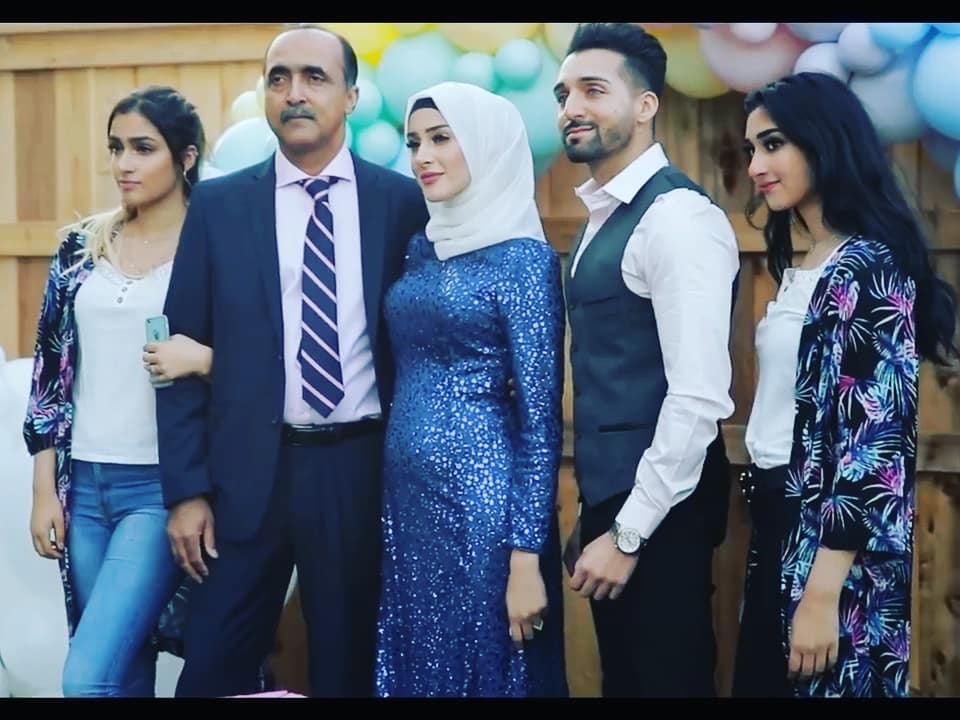 sham idrees and froggy had a baby gender reveal party 5