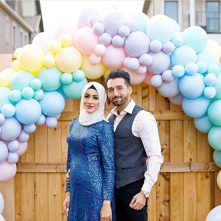 sham idrees and froggy had a baby gender reveal party 6