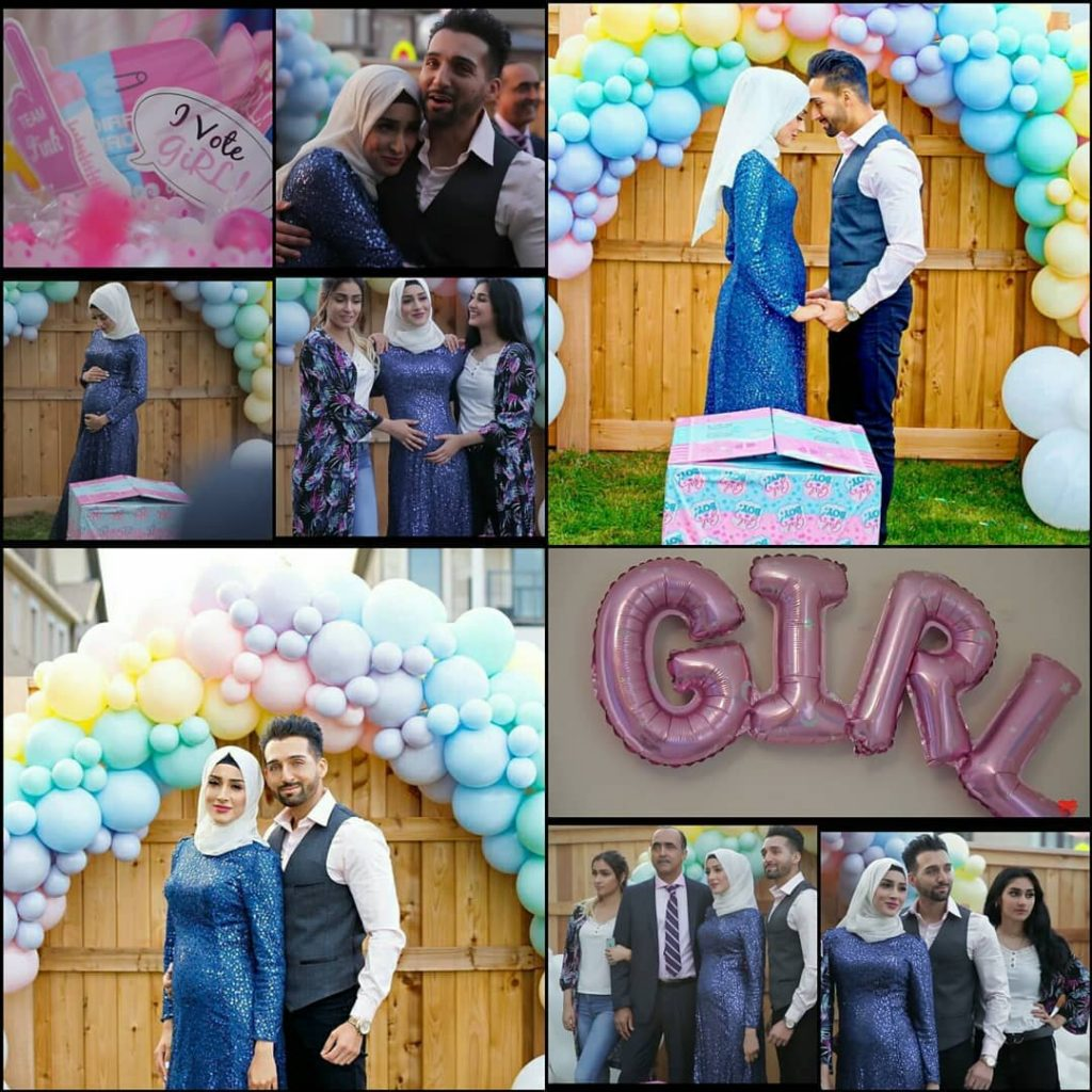 sham idrees and froggy had a baby gender reveal party 7