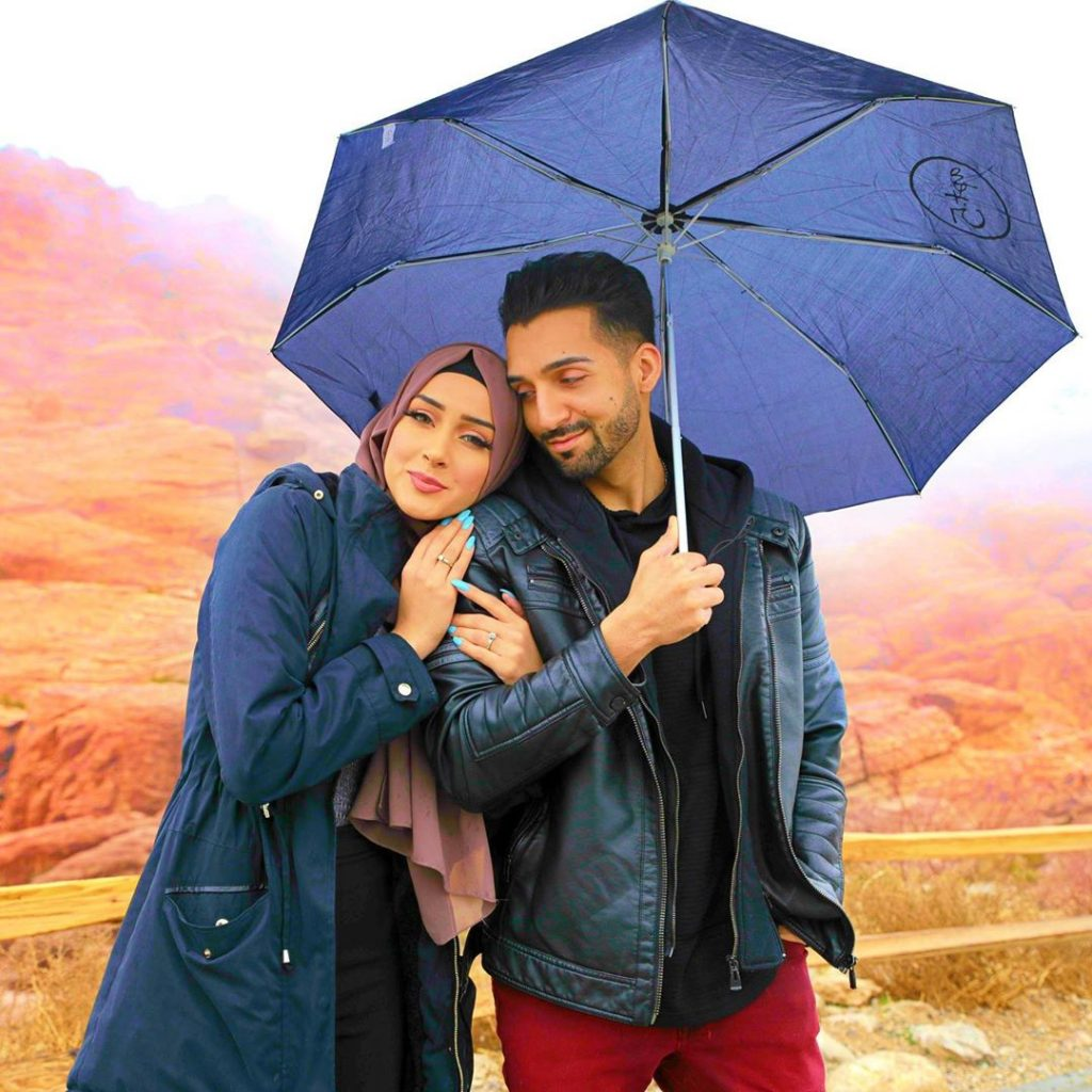 sham idrees and froggy had a baby gender reveal party 9