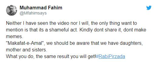Rabi Pirzada Responds To Her Leaked Videos