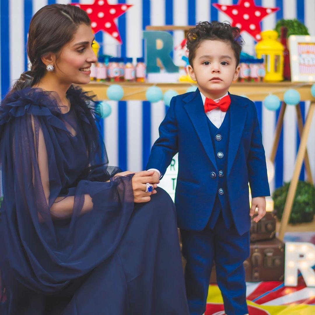 In Pictures: Ayeza, Danish's son Rayyan Taimoor turns 2