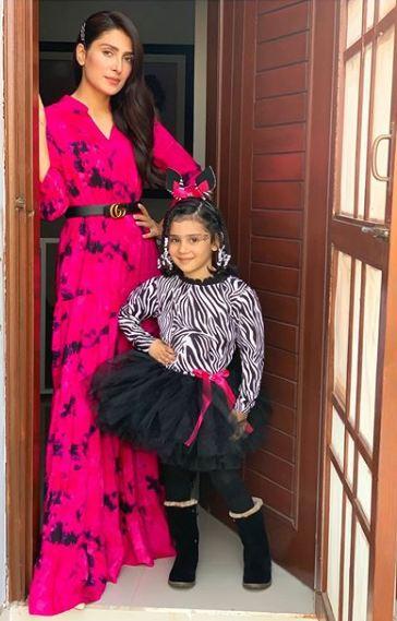 Beautiful Clicks of Ayeza Khan and Danish with Their Daughter Hoorain