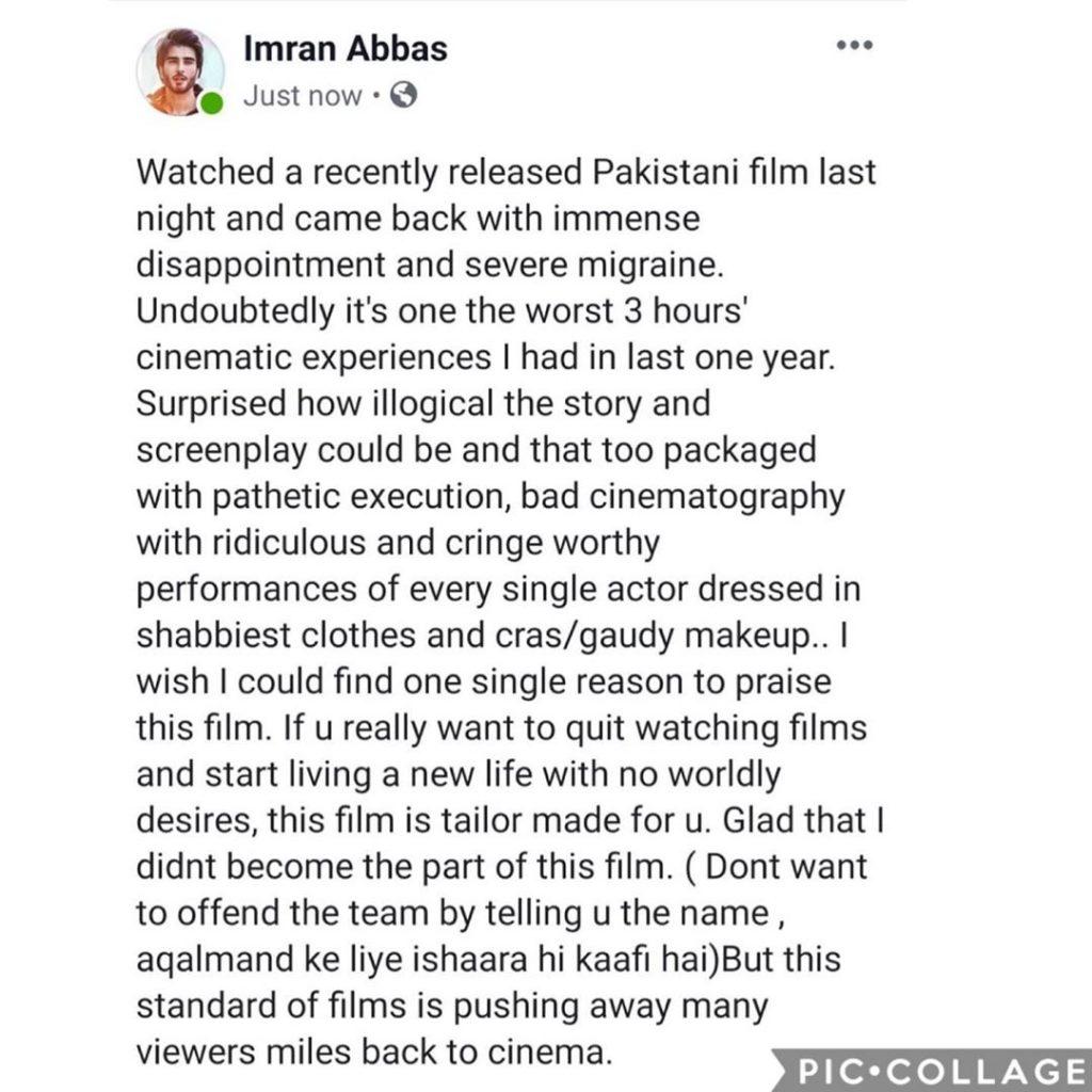Did Imran Abbas Indirectly Call The Movie Kaaf Kangana Illogical 1